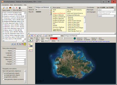 DiversityGazetteers © SNSB IT Center
